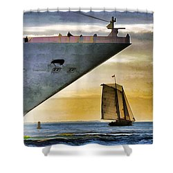 Key West Sunset Sail Shower Curtain by Dennis Cox WorldViews
