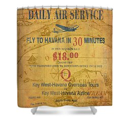 Key West To Havana Shower Curtain