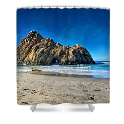 Shower Curtain featuring the photograph Keyhole Rock At Pheiffer Beach #14 - Big Sur, Ca by Jennifer Rondinelli Reilly - Fine Art Photography