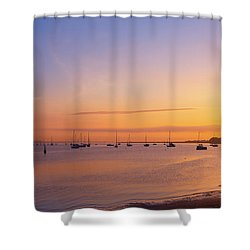 Keyport Harbor Sunrise  Shower Curtain