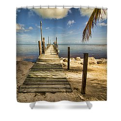 Keys Dock Shower Curtain