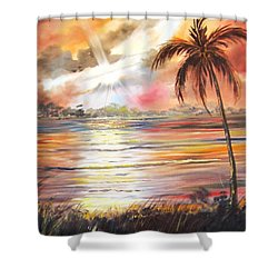 Keys Sunrise, Sunset Shower Curtain
