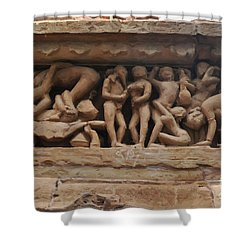 Khajuraho Temples-1 Shower Curtain