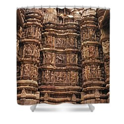 Khajuraho Temples 2 Shower Curtain