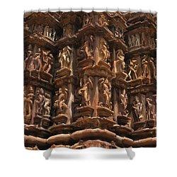 Khajuraho Temples 3 Shower Curtain