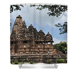 Khajuraho Temples 4 Shower Curtain