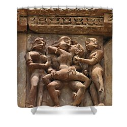Khajuraho Temples 5 Shower Curtain