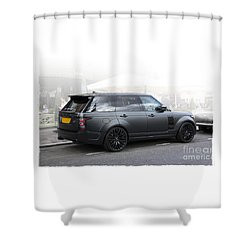 Khan Range Rover Shower Curtain by Roger Lighterness