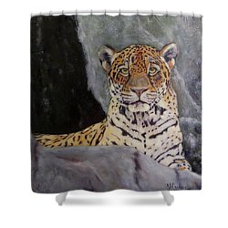 Khensu,  Jaguar Shower Curtain