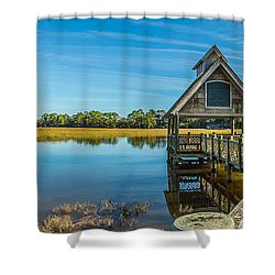 Kiawah Island Boathouse Panoramic Shower Curtain