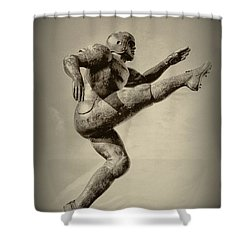 Kick Off Shower Curtain by Bill Cannon