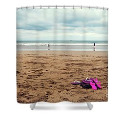 Shower Curtain featuring the photograph Kick Off Your Shoes by Linda Lees