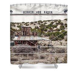 Kickin Ass Ranch Shower Curtain by Robert FERD Frank