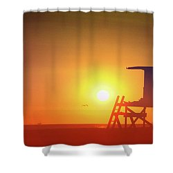 Kicking It Shower Curtain by Everette McMahan jr