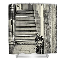 Kid's Bike Shower Curtain by Silvia Ganora
