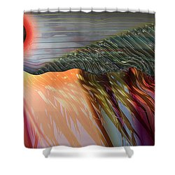 Kids Drumming Shower Curtain