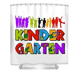 Kids Kindergarten Shower Curtain