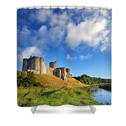 Kidwelly Castle 1 Shower Curtain