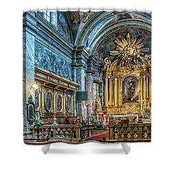 Kielce Cathedral In Poland Shower Curtain