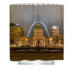 Kiener Plaza And The Gateway Arch Shower Curtain