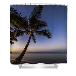 Kihei Maui Hawaii Palm Tree Sunrise Shower Curtain