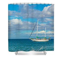 Kihei Sailboat 4 Shower Curtain
