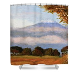 Kilamigero Shower Curtain by Marcia Dutton