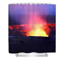 Kilauea Crater, An Active Volcano On Shower Curtain