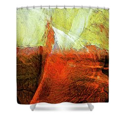 Shower Curtain featuring the painting Kilauea by Dominic Piperata