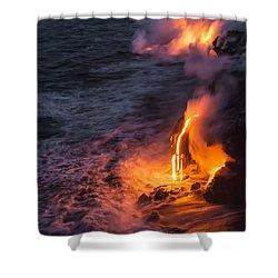 Kilauea Volcano Lava Flow Sea Entry 6 - The Big Island Hawaii Shower Curtain by Brian Harig