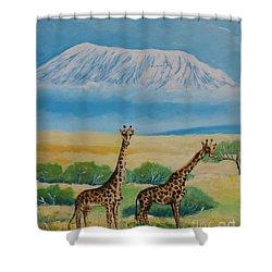 Kilimandjaro Shower Curtain
