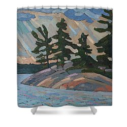 Killbear Pines And Morning Crepuscular Rays Shower Curtain
