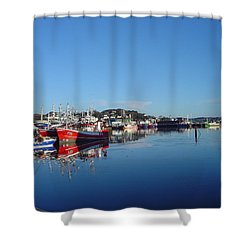 Killeybeggs Harbor Shower Curtain