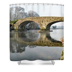 Kilsheelan Bridge In Winter  Shower Curtain