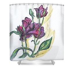 Kimberly's Spring Flower Shower Curtain by Clyde J Kell