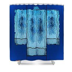 Kimono In Blue Shower Curtain
