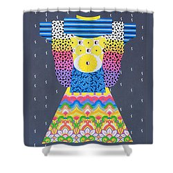 Shower Curtain featuring the painting Kimono by Thomas Gronowski