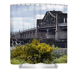 Shower Curtain featuring the photograph Kincardine Bridge by Jeremy Lavender Photography