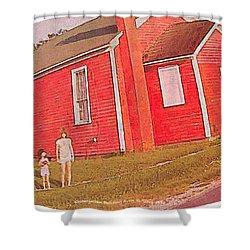 Kindergarten Avon Il Circa 1950s Shower Curtain
