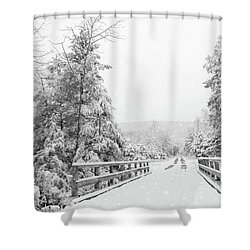 Shower Curtain featuring the photograph Kindness Is Like Snow by Lori Deiter