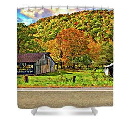 Kindred Barns Painted Shower Curtain by Steve Harrington