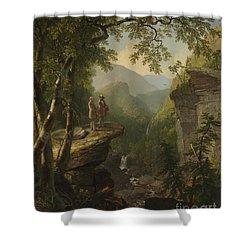 Shower Curtain featuring the painting Kindred Spirits by Celestial Images