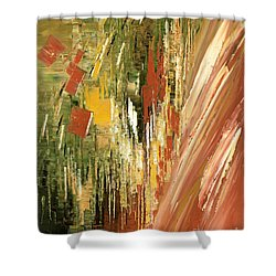 Shower Curtain featuring the painting Kinetic Creativity by Tatiana Iliina