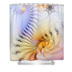 Kinetic Pantomime Shower Curtain by Casey Kotas