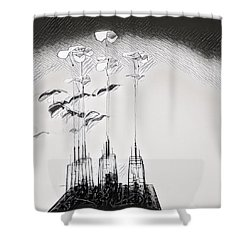 Kinetic Sculpture Shower Curtain
