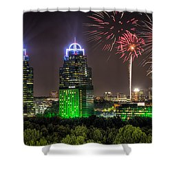 King And Queen Buildings Fireworks Shower Curtain