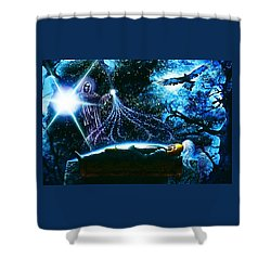 King  Arthur's Death Shower Curtain by Hartmut Jager