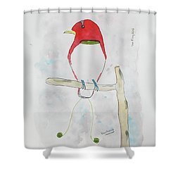King Bird Of Paradise Shower Curtain