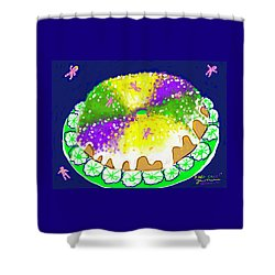 King Cake Shower Curtain by Jean Pacheco Ravinski