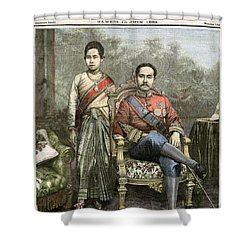 Shower Curtain featuring the drawing King Chulalongkorn by Granger
